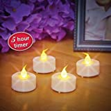 Gerson 4-Piece Set LED Tealight with Timer Feature