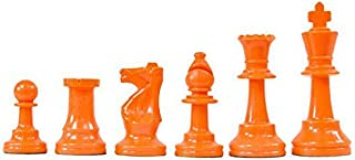 WE Games Color Bright Plastic Staunton Tournament Chessmen with 3.75 in. King - Half Set