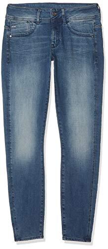 G-STAR RAW Damen Lynn Mid Skinny Jeans, Blue Antic Blue, 27W / 28L