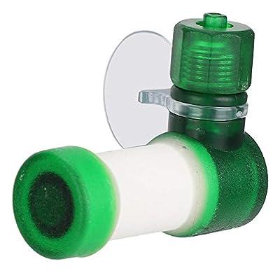 Aquarium CO2 Atomizer, Carbon Dioxide Diffuser CO2 Atomizer for Aquarium Fish Tank Equipment Green Plastic Aquarium Carbon Dioxide Refiner Fish Tanks Simple CO2 Diffuser(L)