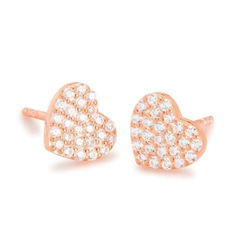 NANA KAY Sweet Glam ST1633 - Pendientes con forma de corazón y circonitas