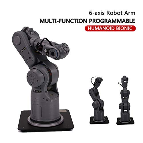 MYLW 6-axis Robot Arm robot arm toy Multi-function Programmable High Precision Mechanical for Arduino Robotic Education STEM Educational Toys