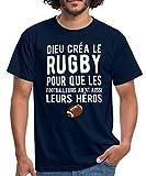 Dieu Créa Le Rugby T-Shirt Homme, XXL, Marine