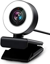 PC Webcam for Streaming HD 1080P, Vitade 960A USB Pro Computer Web Camera Video Cam for Mac Windows Laptop Conferencing Gaming Webcam with Ring Light & Microphone