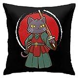 Yanting Kendo - Funda de cojín para sofá, diseño de gato
