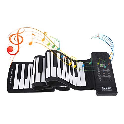 Tastiera avvolgibile a 61 tasti, piano elettrico pieghevole per tastiera morbida, piano tastiera flessibile per musica digitale elettronica per principianti, divertimento in famiglia