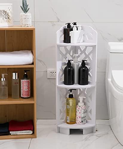YUDOXN Estanteria Baño. Estante de ducha, Estante de esquina para sala de estar ahorra Espacio Almacenamiento, Estante de ducha para almacenamiento de baño pequeño,Blanco.