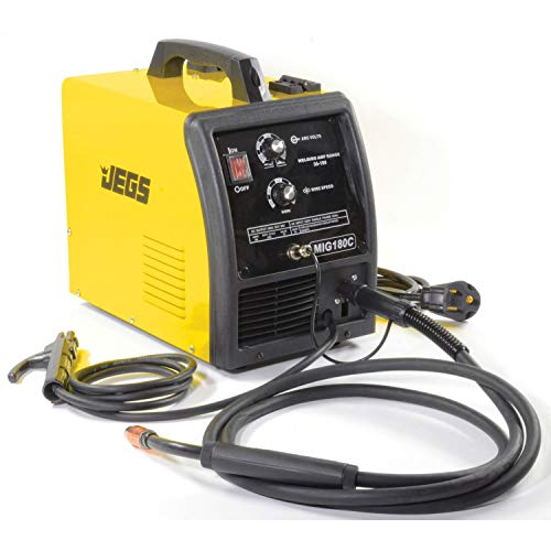 JEGS MIG/MMA 180 Welder | 220V AC | Includes Gas Regulator, MMA Clamp, Welding Torch, Ground Clamp & Cable, Hand Held Mask, And Wire Brush