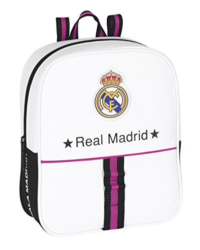 SAFTA - Mochila-guardería Adaptable Real Madrid, 22 x 27 x 10 cm (611457232)