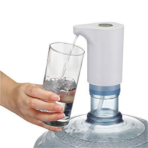 Dispensador de botella de agua, Bomba de botella de agua Dispensador de botella de agua recargable USB automático Interruptor de botella de agua Universal para botellas de 5L / 7.5L / 11L / 18.9L