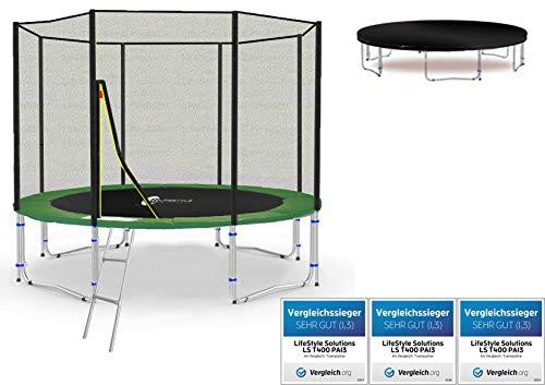 LifeStyle ProAktiv LS-T305-PA10 (GW) Trampolino da Giardino 305cm - incl. Rete di Sicurezza 130g/m² - New