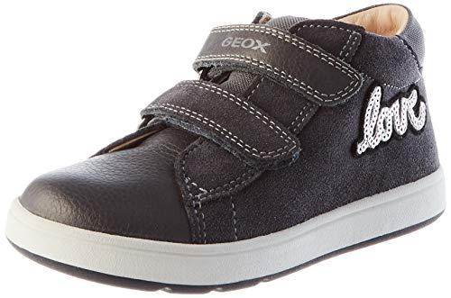 Geox B BIGLIA Girl B, First Walker Shoe Bimba 0-24, (Dark Grey), 25 EU