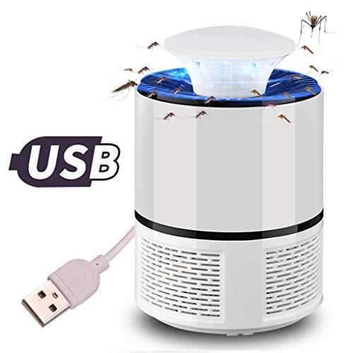 ZMJH Mosquito Zappers Electric Bug Zapper UV Mosquito Killer Lamp Mosquitera Trap Portátil USB Powered LED Bug Zapper Light Adecuado para Acampar, Caminar, al Aire Libre e Interior (Blanco)