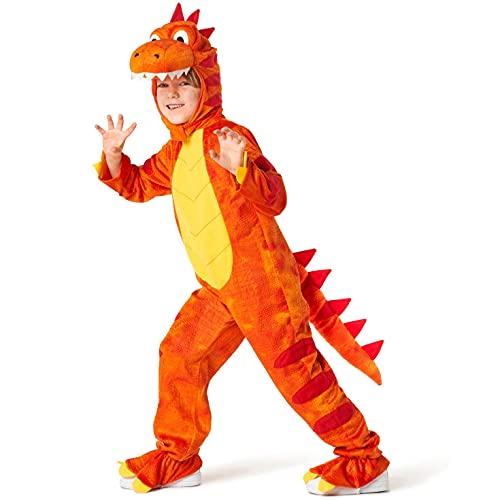 Morph Costumes Orange T-REX Kids Dinosaur Costume Boys And Girls Halloween Costume Small