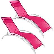TecTake Loungers Weather Resistant Adjustable Backrest