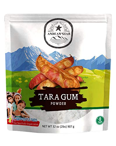 Andean Star Tara Gum Powder - 907g/32oz - All-Natural Thickening Agent for Baking, Dressing, and Ice Cream - Gluten-Free Alternative to Guar, Locust Bean, and Xanthan Gum - Kosher - Vegan - Non-GMO