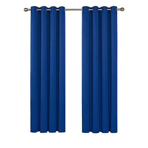 Deconovo Tende Oscuranti Termiche Isolanti Moderne per Porta Finestra Interni 140x200cm Blu...
