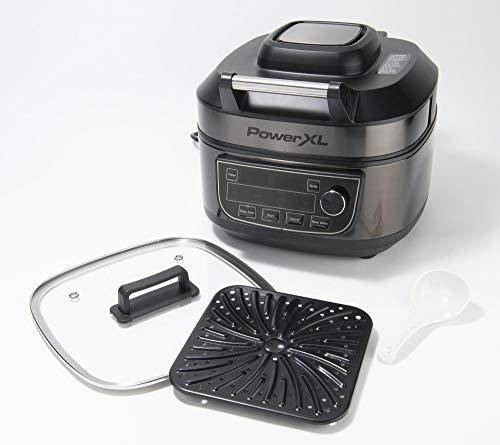 PowerXL Grill Air Fryer Combo 12-in-1 Indoor Grill, Air Fryer, Slow Cooker, Roast, Bake, 1550-Watts, Black