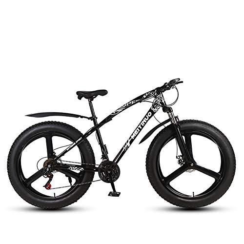 XIAOFEI 26-Zoll-Doppelscheibenbremse Breitreifen Offroad-Fahrrad mit Variabler Geschwindigkeit Adult Mountainbike Fat Bikes, Adult Mates hängen zusammen Rum,B3,26IN