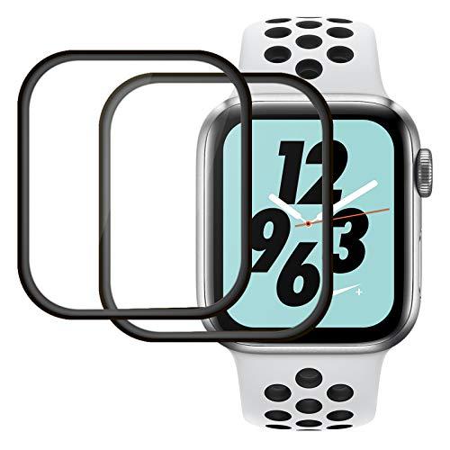 2 Pack protector cristal templado apple watch Series6/5/4/SE,40 mm Protector de Pantalla,HD-Clear Cristal Templado curvo 3D Película de Vidrio