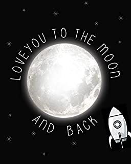 Love You to the Moon and Back Children's Wall Art Print 11x14, Nursery Decor, Kid?s Wall Art Print, Kid?s Room Decor, Gend...