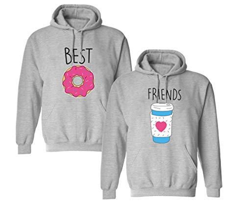 Best Friends Pullover für Zwei Mädchen Burger Pommes Beste Freunde Hoodie für 2 Mädchen Sister Freundin Schwester Avocado Freundschafts Pulli BFF Geschenke 1 Stück