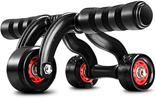ZHENG Bauchtrainer Roller Bauchtrainer Wheel Dreirad-Dreieck-Roller-Fitnessgeräte Outdoor-Indoor-Trainings-Maschinen-Rad-Übungswalze (Farbe, Größe : Wheel Diameter 16.5cm)