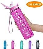 Fidus 32oz Leakproof Tritran BPA Free Water Bottle with Motivational...