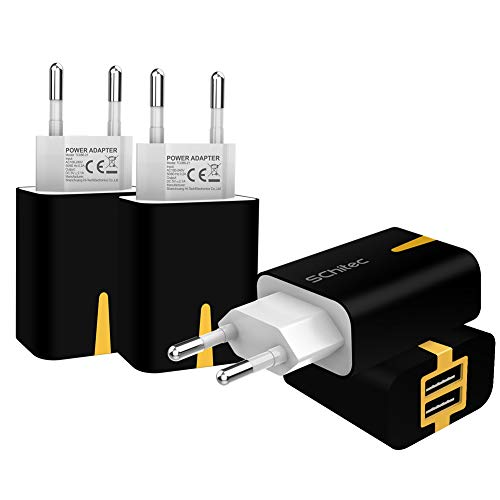 USB Netzteil Stecker, 2 Port USB Ladegerät 4er-Pack 5V / 2.1A Ladeadapter , USB-Portadapter Reise Wall Charger für iPhone X 8 ,Samsung Galaxy S9, S8, iPad Pro , Huawei, LG, Tablet, Kindle und mehr