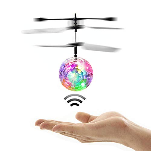RC Toy Suspension Mini Flying Ball Flash Disco Colorful LED Light Helicopter Glowing Remote Control Aircraft Children's Toys