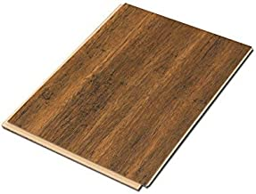 Cali Bamboo - Cali Vinyl Plus Cork-Backed Vinyl Floor, Extra Wide, Antique Java Wood Grain - Sample Size 5-3/4