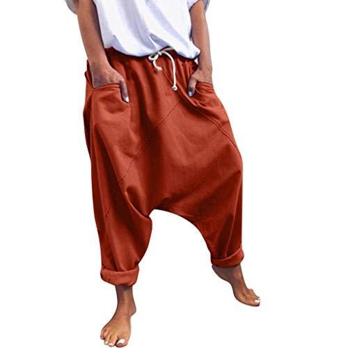 Zarupeng Casual Solide Vintage broek van katoenmix Baggy stoffen broek Pluderbroek Pumpbroek Boyfriend vrijetijdsbroek Chino broek