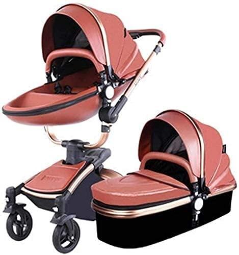 Cochecito de bebé liviano portátil Puerto portátil Cochecito de cochecito de cochecito de bebé, función de rotación de 360 grados, cochecito de cochecito de bebé, 2020, marrón 2