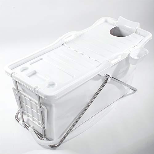 FlinQ Bañera Portátil Plegable para Adultos | Blanco | Sistema Easy Click | Ideal para curtos de baño pequeños | Bañera Plegable para Adultos | Bañera Portátil para Adultos XL y Niños