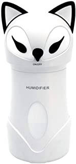 Fox Humidifier Three-in-one Cute Cartoon Children Bedroom Night Light USB Air Purification Moisturizing Humidifier Diffuser (Color : White)