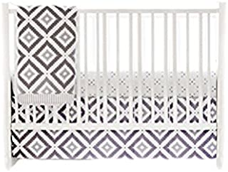 My Baby Sam Imagine 3 Piece Crib Bedding Set, Gray, White