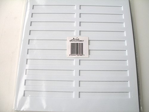 DOM'S DIY DIRECT WHITE ADJUSTABLE HIT AND MISS LARGE AIR VENT 11.25 X 10.5 VENTILATOR COVER by DOMS...