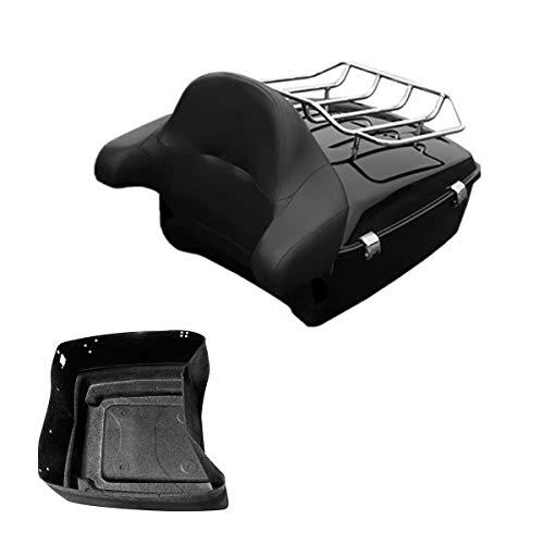 TCMT King Tour Pack Trunk Wrap Around Backrest Luggage Rack Fit For Harley Davidson Touring Models 2014 2015 2016 2017 2018 2019 2020