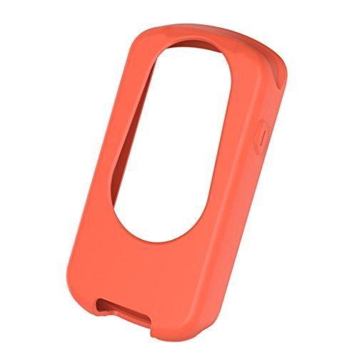SDENSHI Cover Protettiva in Silicone per Bici da Ciclismo per Garmin Edge 1030 - Arancia