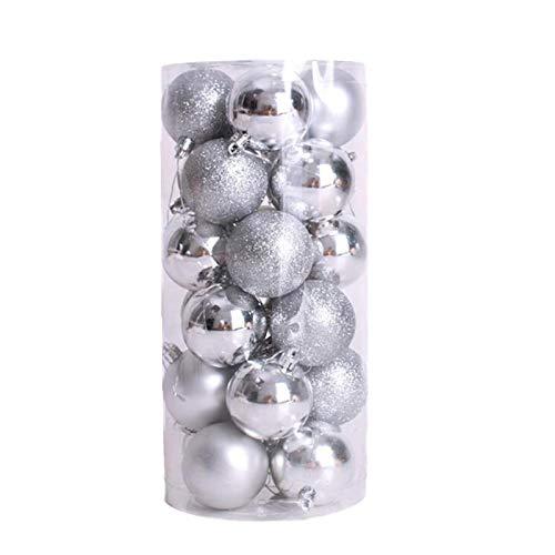 24PCS 40mm Christmas Xmas Tree Ball Bauble Hanging Home Party Ornament Decor Home & Garden Home Decor