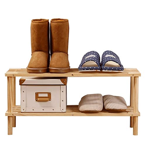 Zapatero, Soporte de almacenamiento de zapatos de zapatos de zapatos a prueba de polvo, estante de marco de madera de marco de zapatos de 2 niveles, portaherramientas del organizador 63 26 29.3 cm