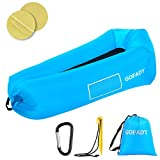 Gofady Inflatable Lounger Air Sofa Hammock-Portable, Anti-Air Leaking Design-Ideal Couch for Outdoor Travelling,Camping, Picnic and Hiking, Blue