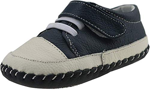 Orgrimmar Baby Boys Girls First Walkers Soft Sole Leather Baby Shoes (Size M, Blue)