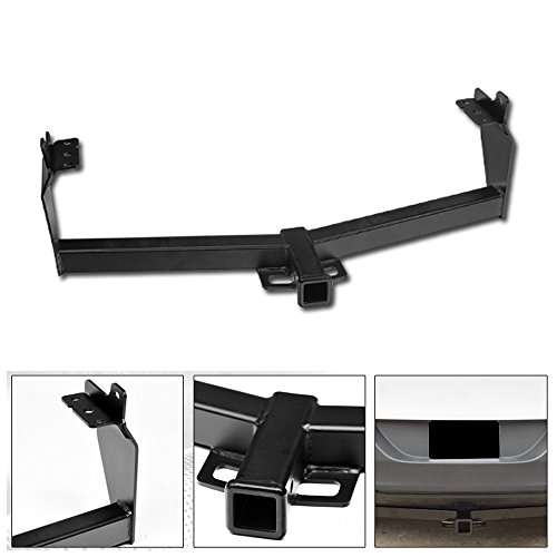 VXMOTOR for 2014-2018 Jeep Cherokee Class 3/III Matte Black Trailer Hitch Mount Receiver Tube Towing Kit Rear Bumper Tow 2'
