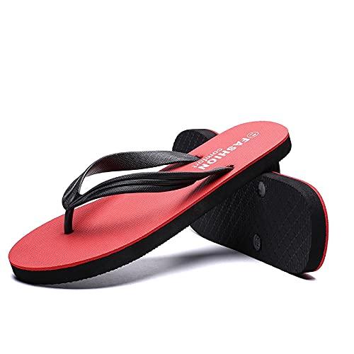 ypyrhh Sandalias Cómodo Casual Zapatos de Playa,Ciabatte piatte da casa,spiaggia di Sabbia selvaggia-Red_41,Zapatillas Flip Flops Sandal