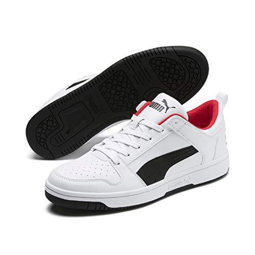 Puma Unisex-Erwachsene Rebound Layup Lo SL Sneaker, White Black-High Risk Red, 45 EU