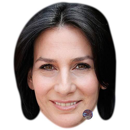 Celebrity Cutouts Marie Drucker Maske aus Karton