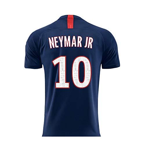 Paris Saint Germain 2019/2020 Season Mens Soccer 10 Neymar Home Soccer Athletics Jersey Men T-Shirts (S-XL),Large Blue