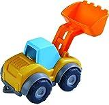 HABA 305181 – Auto giocattolo con caricatore, escavatore per bambini a partire dai 2 anni per interni ed esterni, veicolo da cantiere, 13 cm, con pala per il trasporto e lo scarico