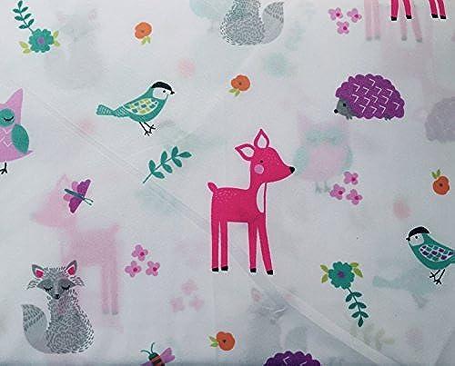Max Studio Kids Pastel Woodland Creatures Sheet Set, Full Größe
